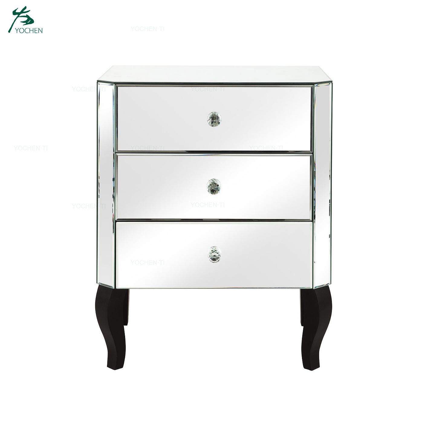 Whosale Service Mirrored 5 Drawer Narrow Chest