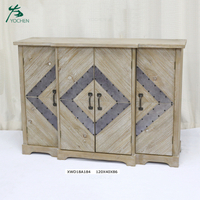 Antique home furniture reclaimed wood buffet cabinet sideboard