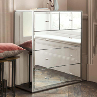 luxury sideboard living room cabinet modern dresser mirrored furniture