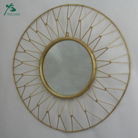 Vintage metal wall decorative gold mirror