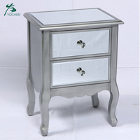 living room mirror furniture dark gray wooden paint modern nightstand