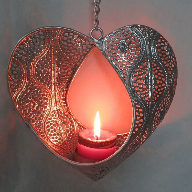 Metal Hanging Wedding Tealight Candle Holder