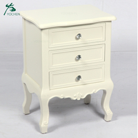 rice white color charming french bedside table