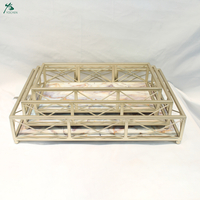 White Marble Serving Tray With Gold Plating Metal Frame