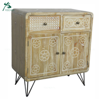 industrial living room furniture supplier light yellow wholesale china cabinet