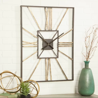 Wholesale simple home decor metal wall clock