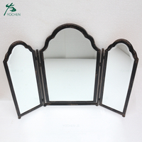 Bedroom furniture decorative vanity wall metal mirror