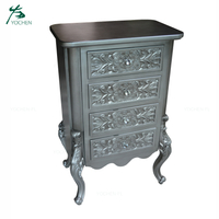 dark gray color antique wood carved cabinet