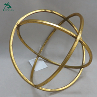 floor standing unique round gold candle holder