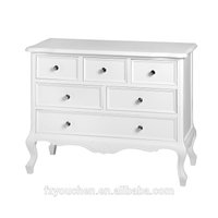 French Furniture White Living Room Furniture Solid Wood Cabinet