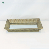 Wholesale cheap metal home decorative golden mirror tray
