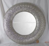 Metal Round Wall Art Decorative Mirror for Home Decor