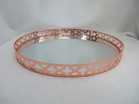 good sale decorative rose gold mirror tray