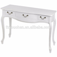 Classic White French Style Hall Table with Drawer