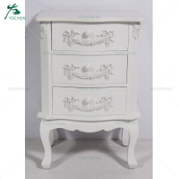 french white wooden cabinet original bedside table