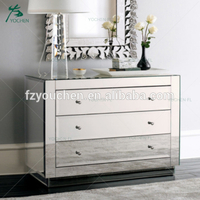 mirror cabinet decorative clear glass mirror cabinet with drawer