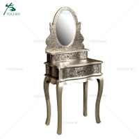 aluminium furniture vintage vanity dressing table mirror