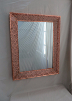 Rose Gold Metal Framed Eelectroplated Wall Mirror