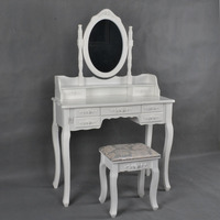 French Style White Color 7 Drawers Vanity Dresser
