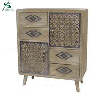 Wooden buffet reclaimed wood cabinet sideboard furniture