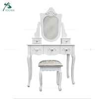 Make Up Vanity Kids Modern Simple Wooden Dressing Table with Drawer