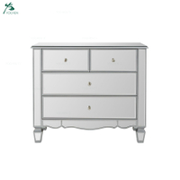 Hotsale Mirrored 2 + 2 Drawer Chest For Livingroom