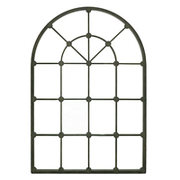 Arched Metal Wall Mirror Gray