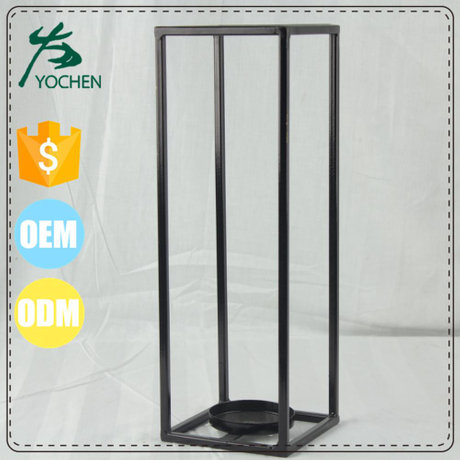 black frame tall metal floor standing japanese candle holder