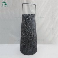 Floor standing metal candle holder for christmas decoration