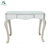 Wooden drawers venetian decorative mirror console table