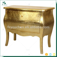 bedroom furniture golden leaf luxury french bedroom chest of drawers