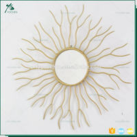 Art Decorative Sun Shaped Wall Mirror Gold Victorian Mirror