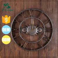 handmade home decor metal wall clocks wholesale