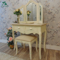 Bedroom furniture wooden 3 mirror royal dressing table