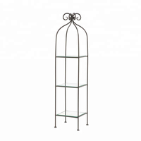 Bathroom Decorative 3-Tier Wrought Iron Metal Standing Shelf