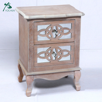 arabic style living room furniture wood circle carving mirror cabinet