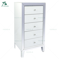 Chest Drawer Furniture White Mirrored Tallboy Furniture 6 Drawer Chest