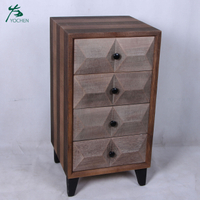 living room American style solid wood cabinet with drawers