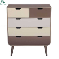Modern homeware 5-drawer bedside table in low MOQ