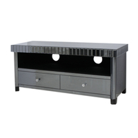Black Living Room Smoke Black Mirror TV Cabinet Modern