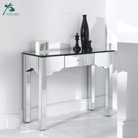European Style Mirrored Furniture Mirrored Console Table