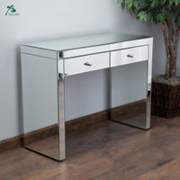 Modern style mirrored furniture living room console table with 2 drawers