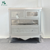 Classic cabinet modern bedroom furniture mirrored chest of drawers