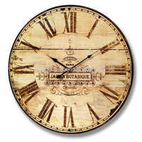 Roman numbers printing antique wooden clock