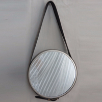 wall decoration mirror craft round mirror with belt