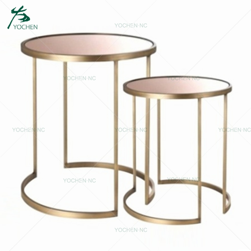 Modern Design Luxury Round Sofa Side Table Small Marble Coffee Table