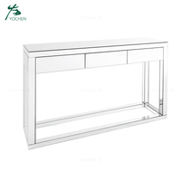 Vanity furniture glass mirrored hallway console table
