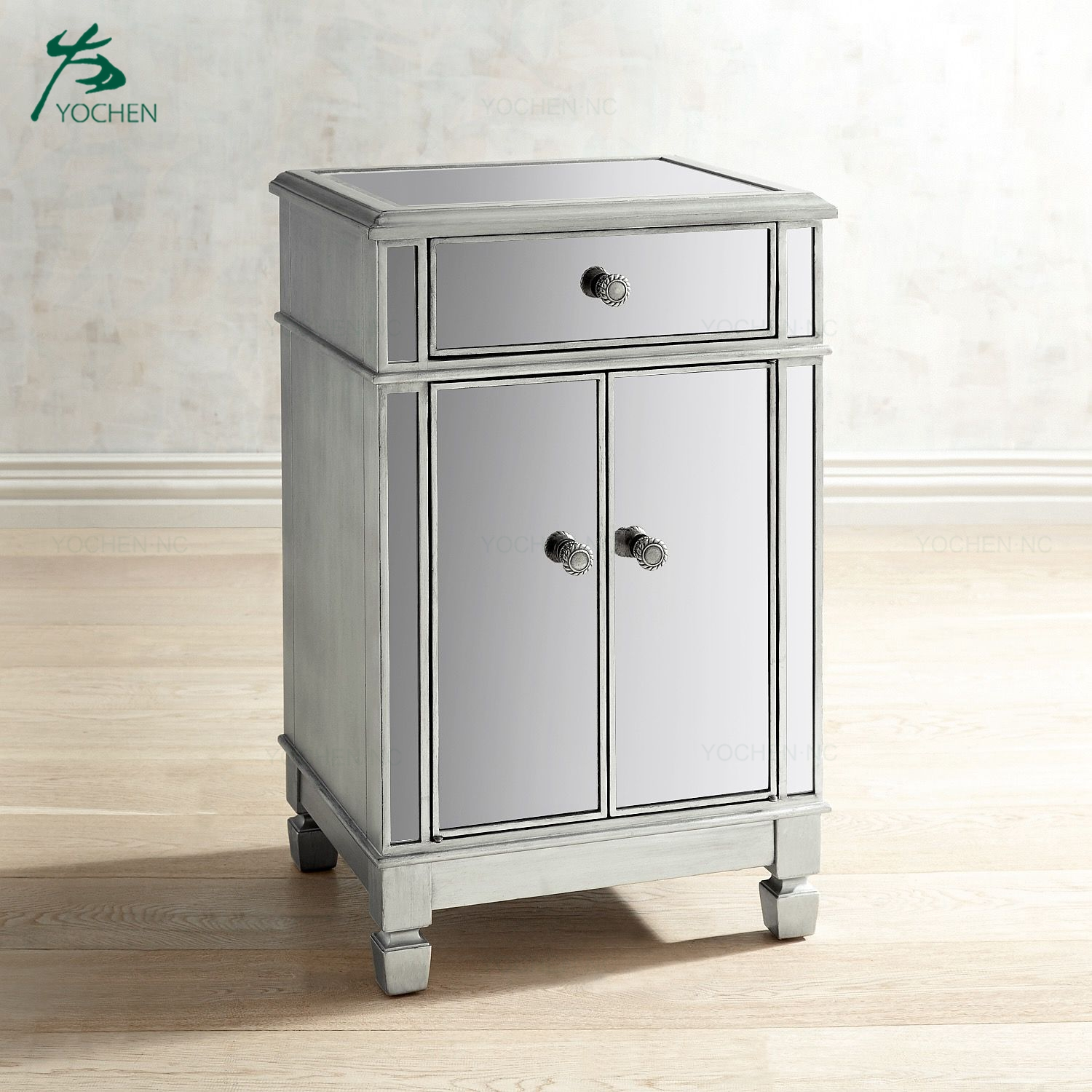 decorative chests white cabinet mirrored furniture