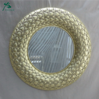 luxury living room wall mirror decorative nice metal mirror