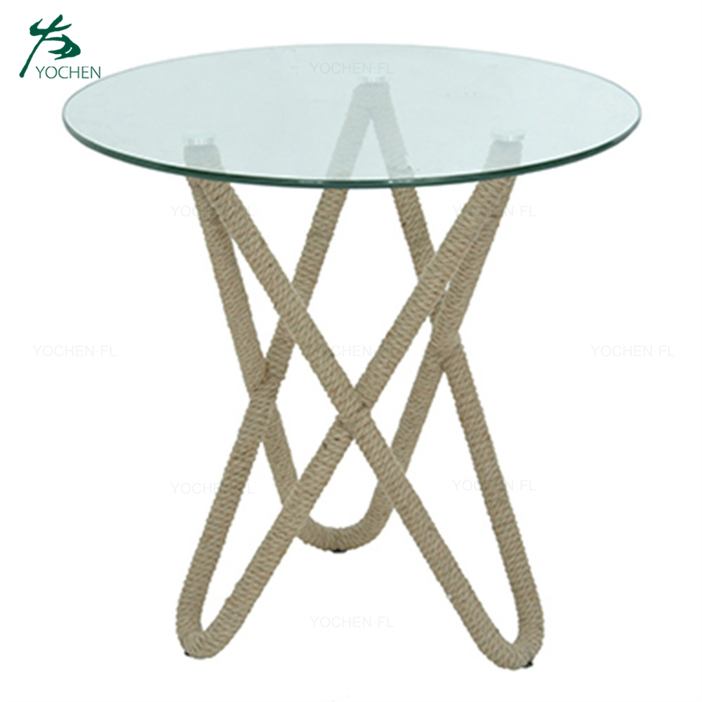 charming design clear glass round table